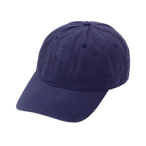 Navy Monogram Cotton Blend Cap
