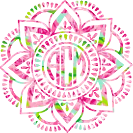Lilly Monogram Mandala Decal - Sweet Southern Sparkle