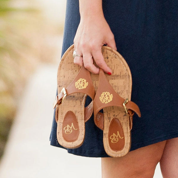 Monogram Sandals| Monogrammed Shoes| Preppy Sandal| Beach Sandal| Summer Shoes| Monograms| Summer| Beach Accessories| Footwear| Flip Flops