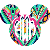 Lilly Monogram Mouse Decal - Sweet Southern Sparkle