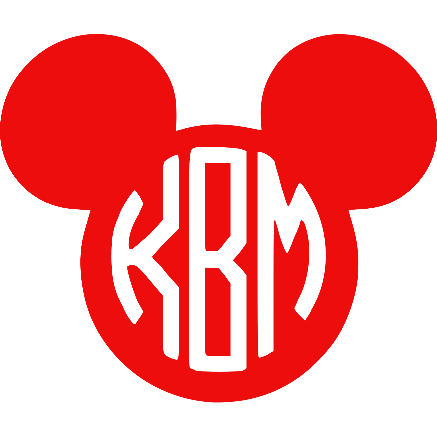 Monogram Mickey Inspired Vinyl Decal