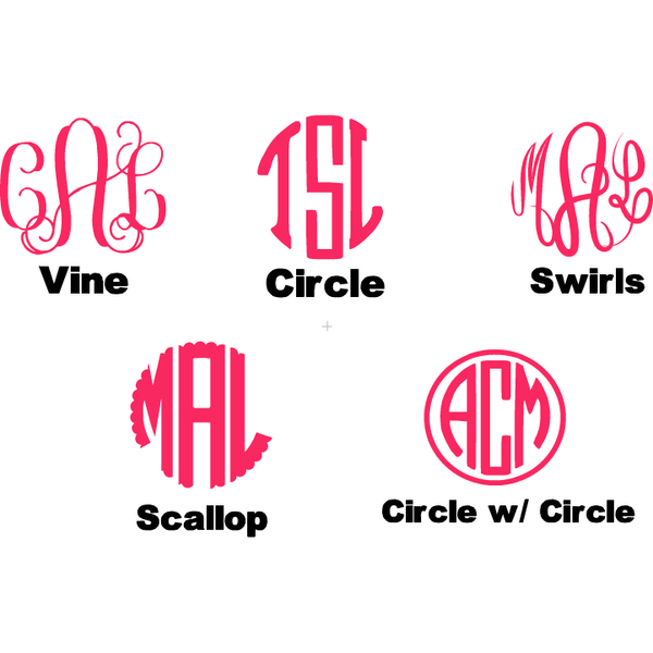 Stethoscope Monogram Decal - Sweet Southern Sparkle