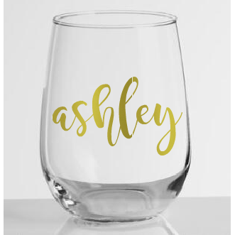 Stemless Wine Glass with Name - Sweet Southern Sparkle
