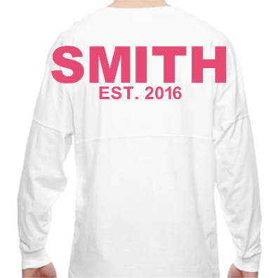 Last Name Spirit Jersey - Sweet Southern Sparkle