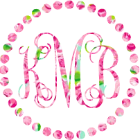 Lilly Monogram Bead Circle Decal - Sweet Southern Sparkle