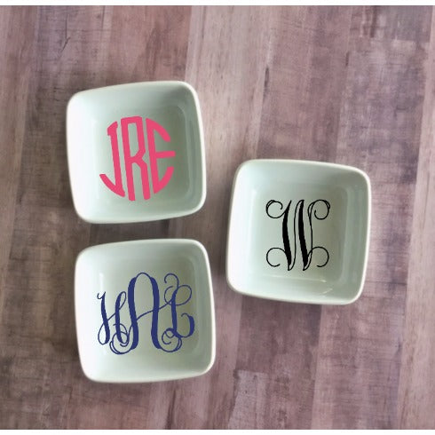 Monogrammed Jewelry Dish - Sweet Southern Sparkle