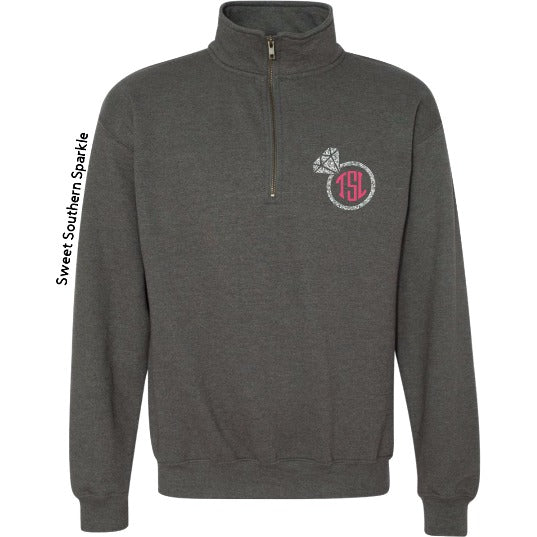 Monogram Glitter Ring Pullover - Sweet Southern Sparkle