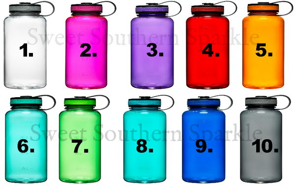 water bottle color options