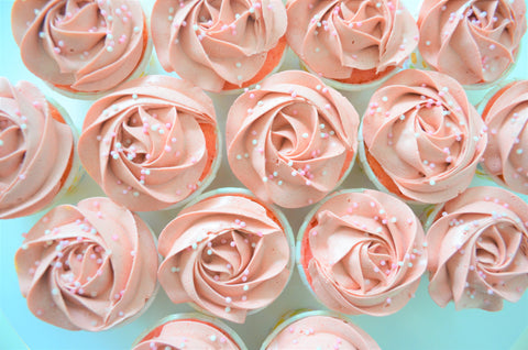 Dusty Pink Mini Cupcakes - Cake Delights Bakery