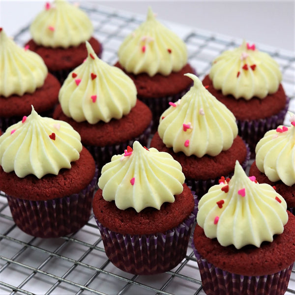 Mini Red Velvet Cupcakes - Cake Delights Bakery
