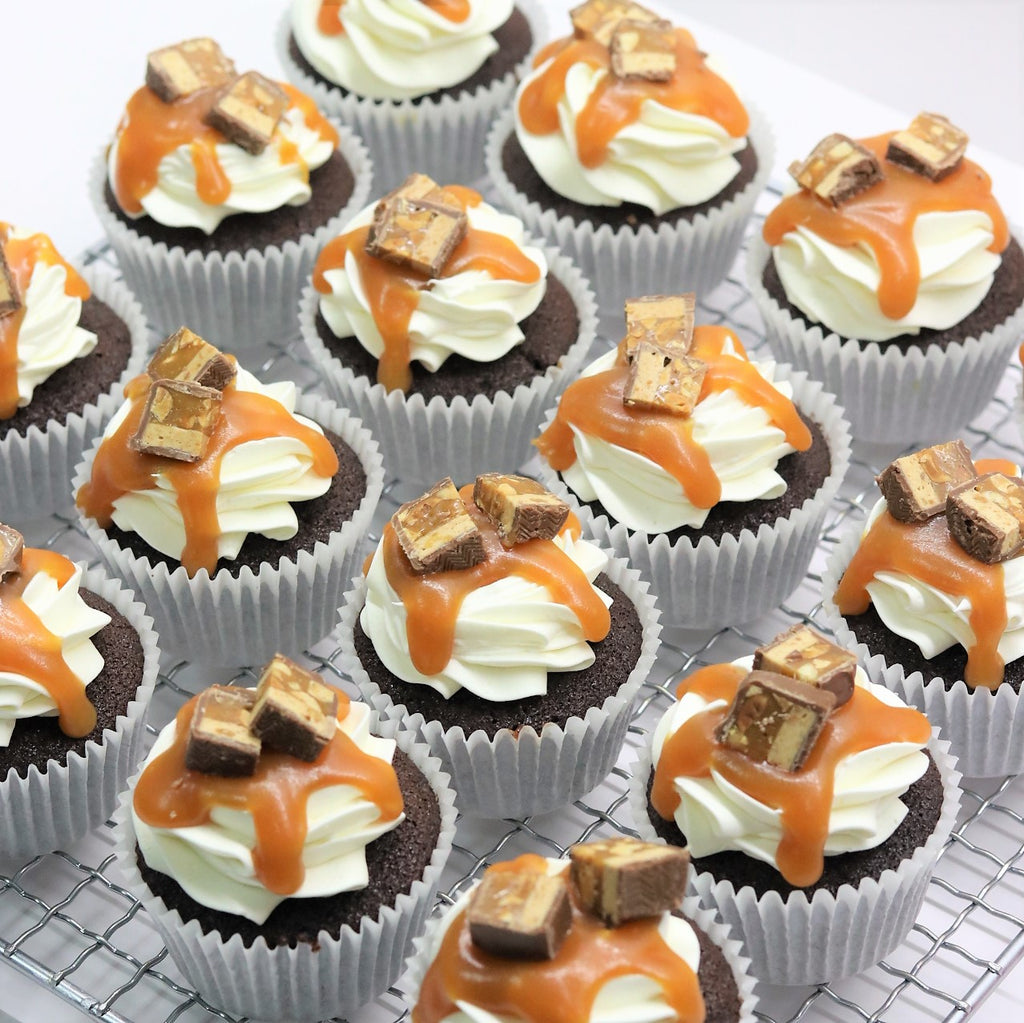 Snickers Cupcakes - Cake Delights Bakery