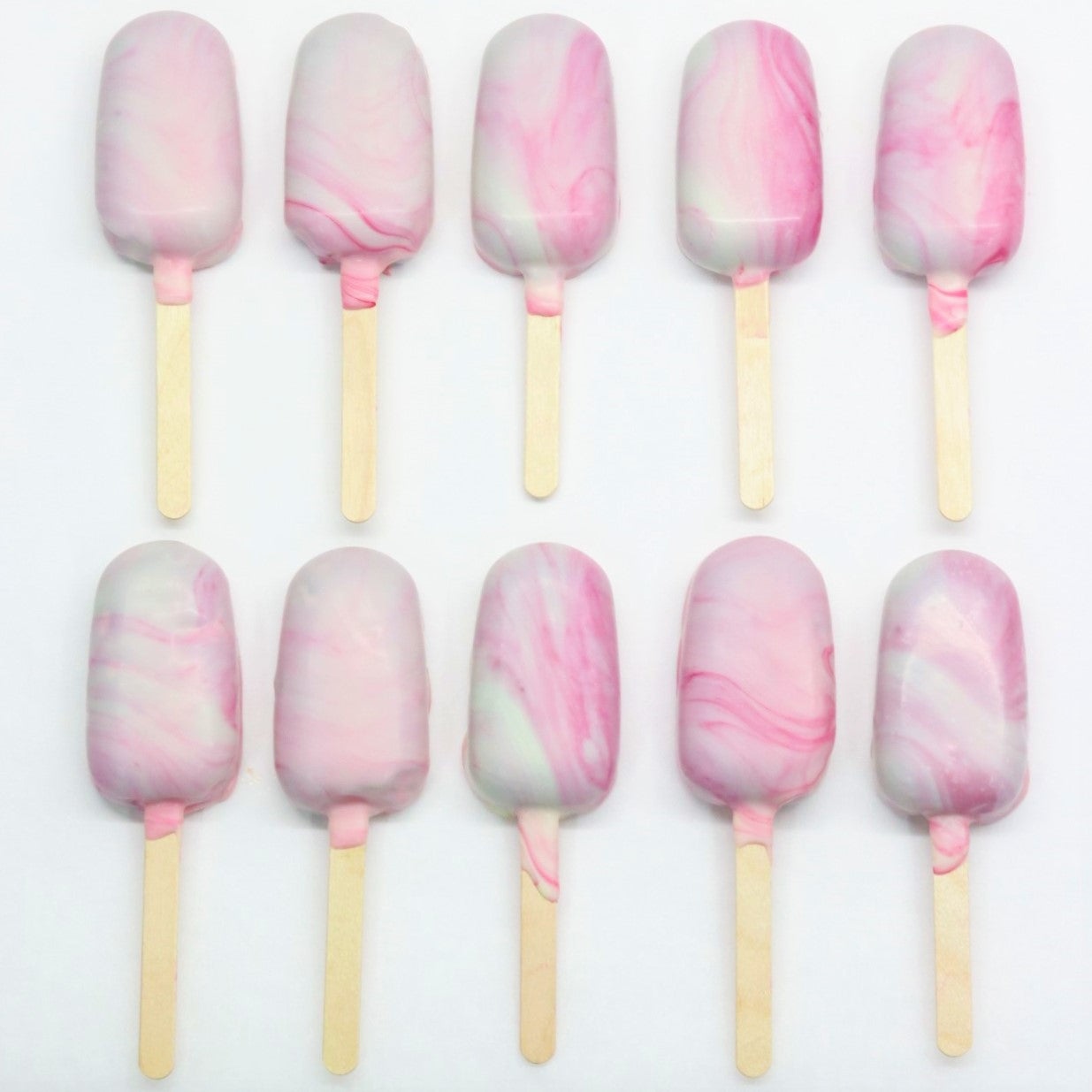 Marbled Chocolate Popsicles - Cake Delights Bakery