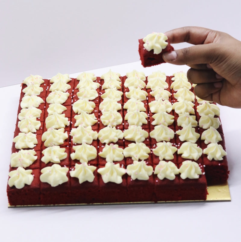 Red Velvet Squares - Cake Delights Bakery