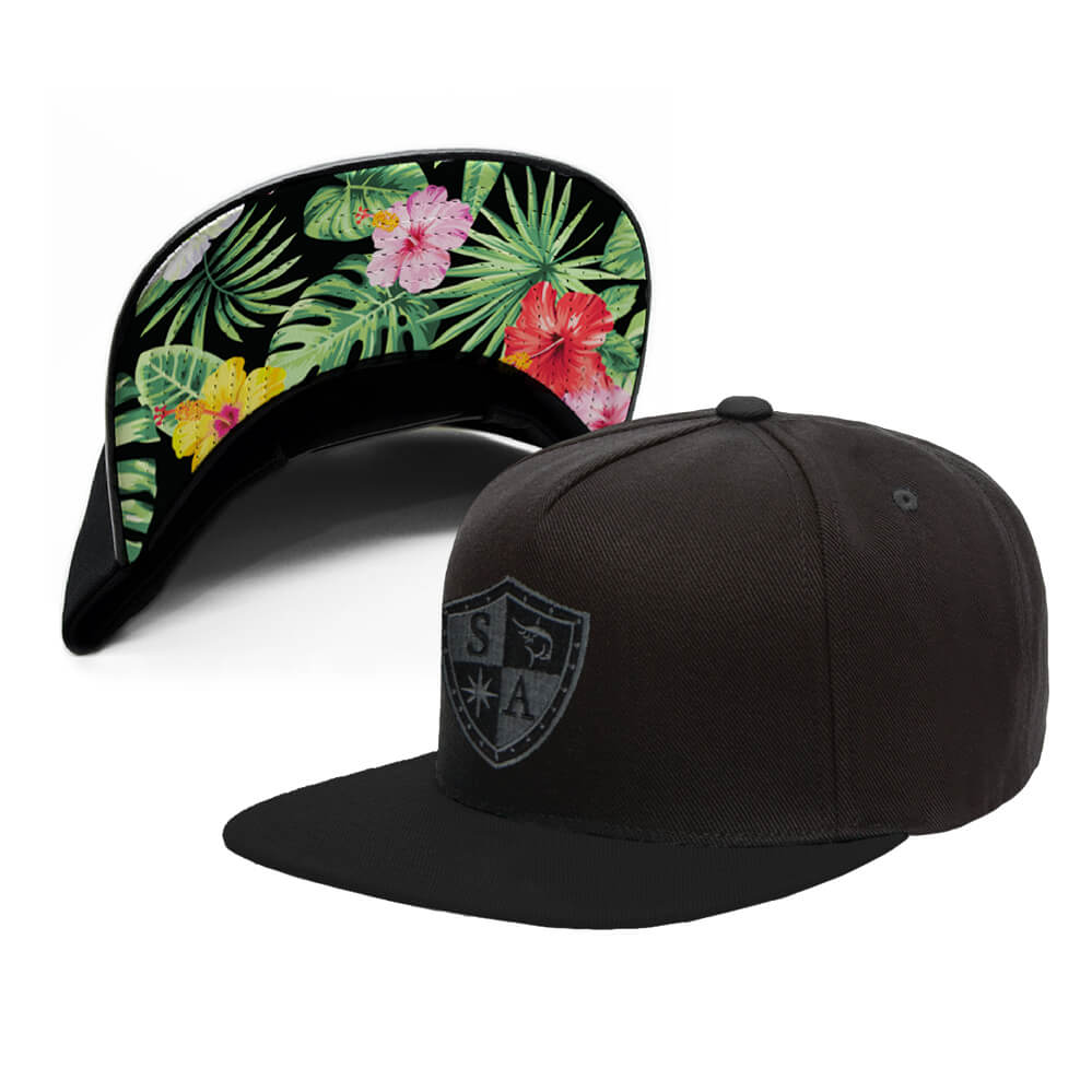 Under Brim Hat | Hawaiian Floral