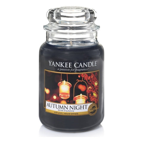 Autumn Night candele in giara formato(grande,media,piccola,tea light,tart,sampler)