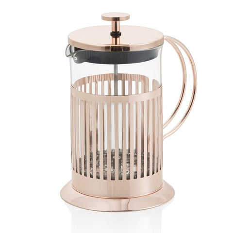 Tisaniera Rose Gold In Vetro E Metal Con Capacita' 600 Ml (Brandani)