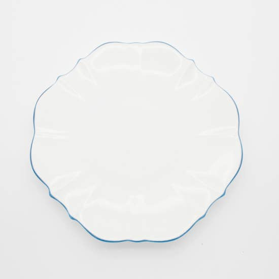 "Amelie - Royal Blue Rim - 10.5"" Dinner Plate"