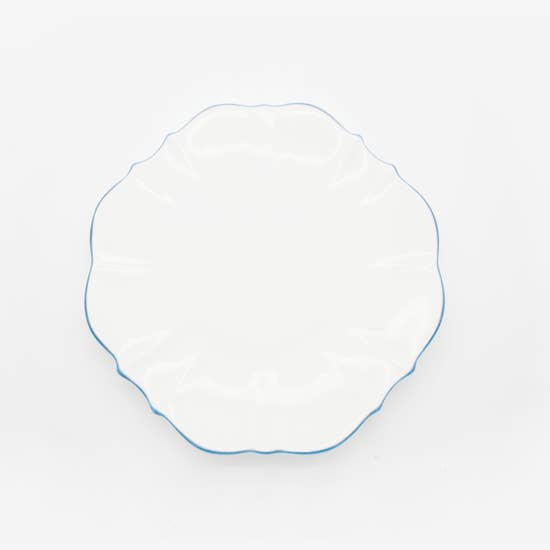 "Amelie - Royal Blue Rim - 6.5"" Bread Plate"