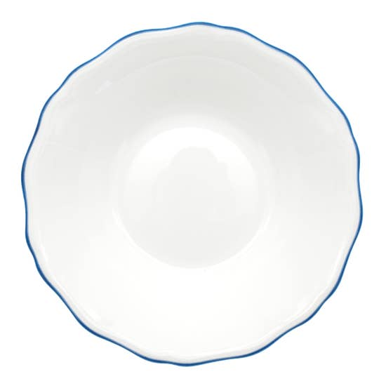 Amelie - Royal Blue Rim - Soup & Pasta Bowl