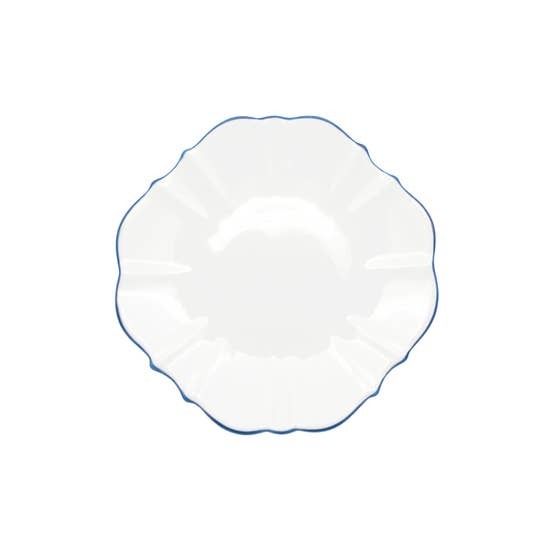 "Amelie - Royal Blue Rim - 8.5"" Salad Plate"