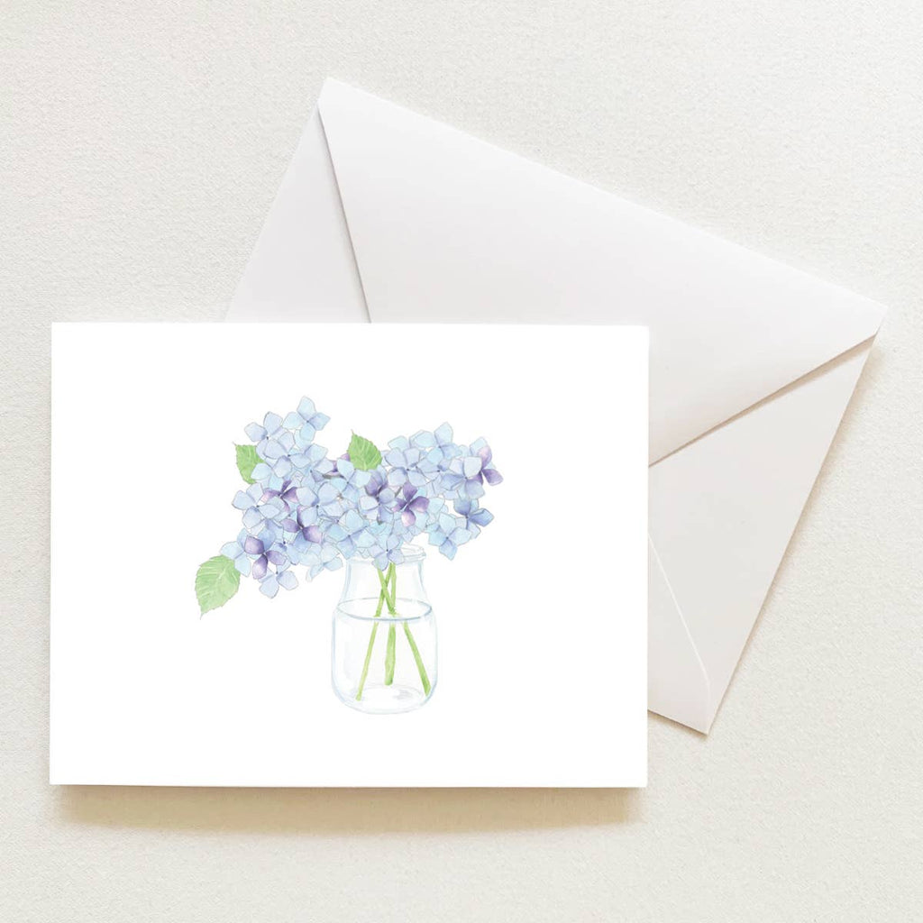 Hydrangea Sleeved Note Card