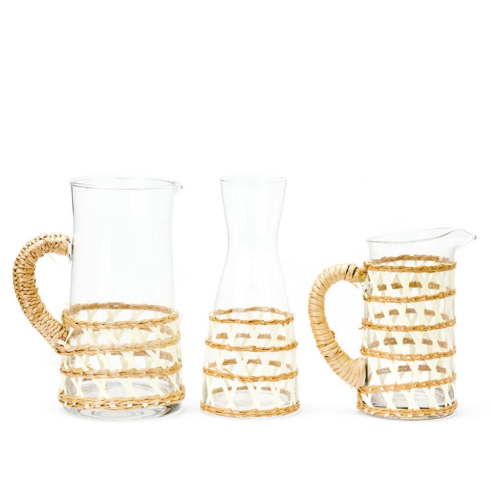White Island Wrapped Pitchers & Carafe