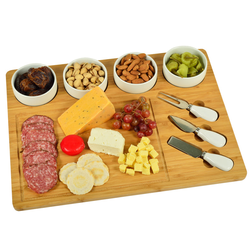 Large Bamboo Cheese Set - 8 Piece Set