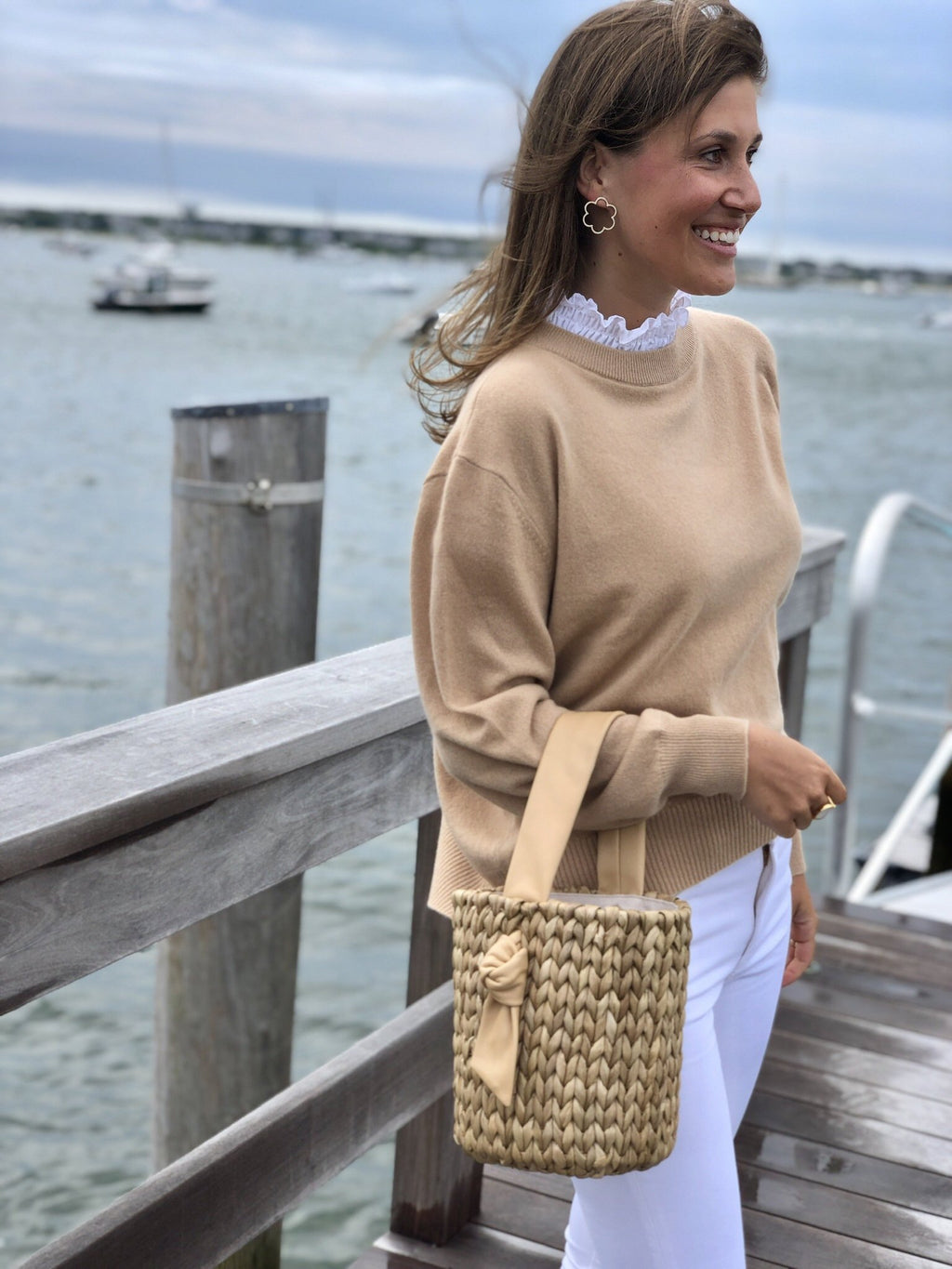 Camel Collared Cashmere Sweater