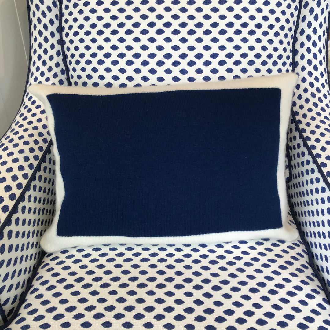 Navy Cashmere Pillow - Solid