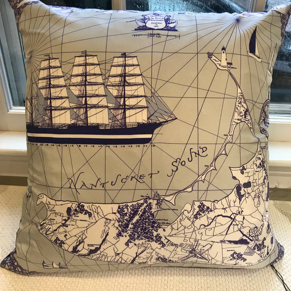 Nantucket Map Pillow