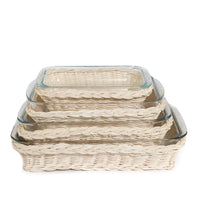 Rectangle Rattan Casserole Dish