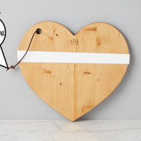 Small Natural Mod Heart Charcuterie Board