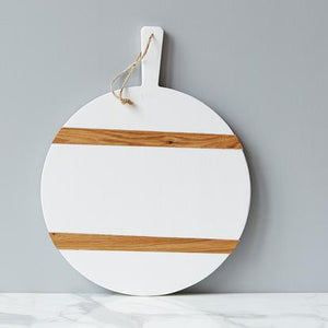 White Round Mod Charcuterie Board, Medium