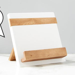 White Mod iPad / Cookbook Holder