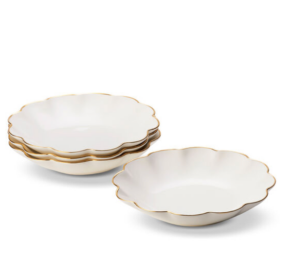 Scalloped Appetizer Plates