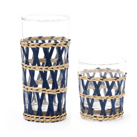 Island Wrapped Glasses - Navy