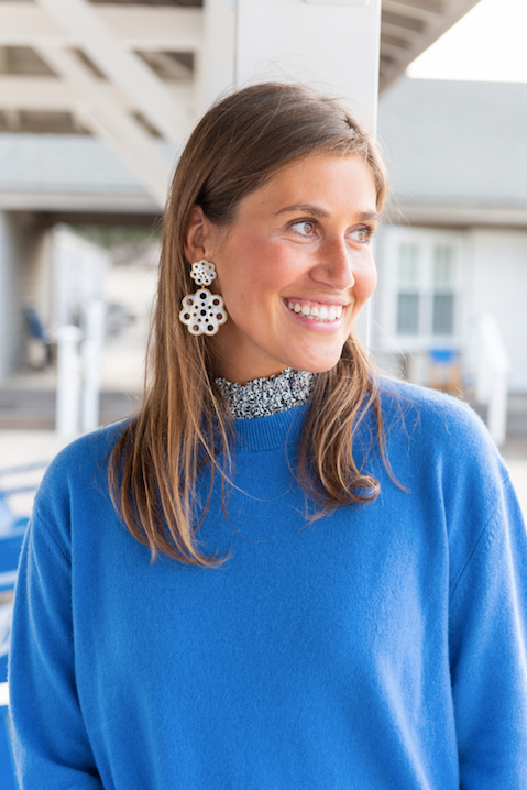 Light Blue Collared Cashmere Sweater