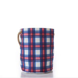Nautical Plaid Bucket Bag