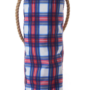 Nautical Plaid Wine Bag