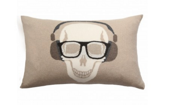 Skull Headphones Pillow