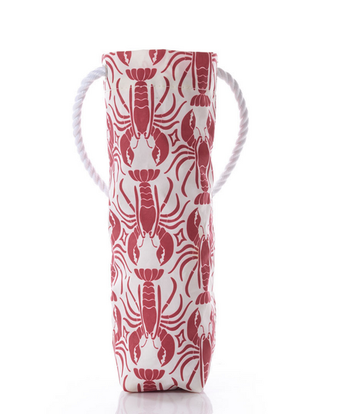 Red Lobster Print Wine Bag