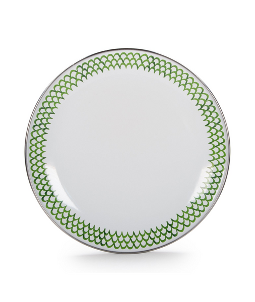 Green Scallop Sandwich Plate