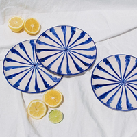Stripes Salad Plate