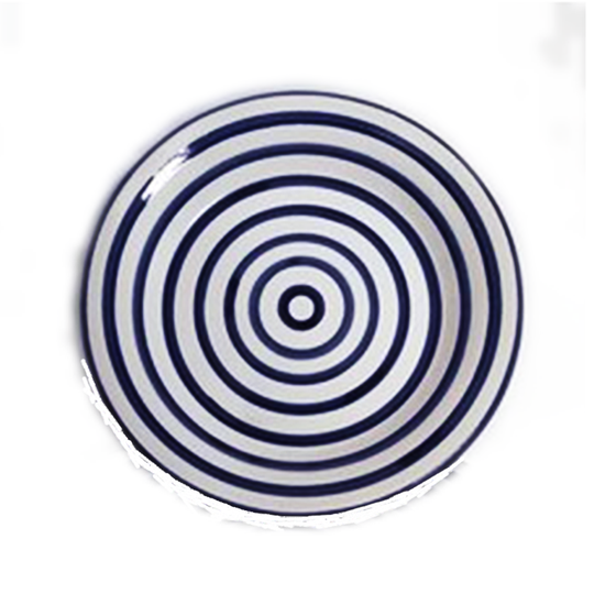 Cobalt Stripe Dinner Plate