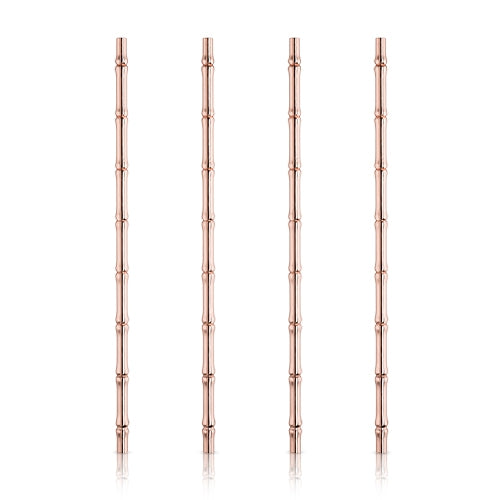 Copper Bamboo Straws- Set of 4