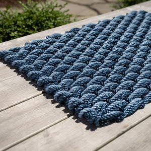 Navy+Navy+Glacier Bay Triple Weave Doormat