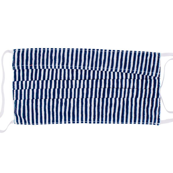 Adult Face Mask - Nantucket Navy Stripe