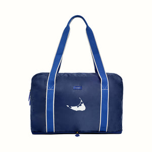 Nantucket Embroidered Fold Up Bag