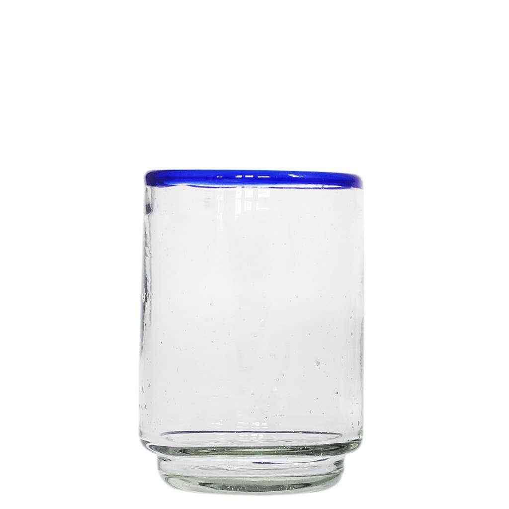 Medium Colored Rim Stacking Glass