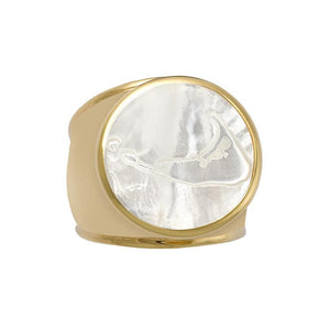Nantucket Ring Gold Vermeil